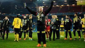 Arne Erlandsen efter cupsegern 2017.