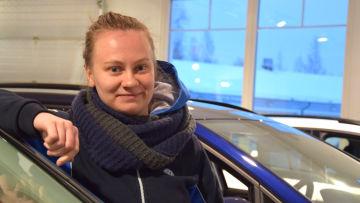 Viivi Montonen, servicerådgivare på BN Bilservice