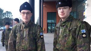 Daniel Nylund och Lukas Lillqvist.