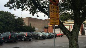 """Den så kallade """"Matildas parkering"""" i Ekenäs"""