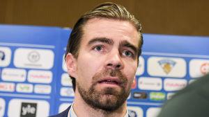 Jussi Ahokas fick ta över landslaget under turneringen.