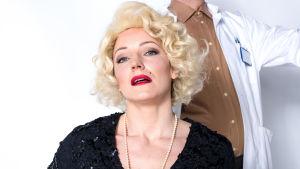 Maria Ahlroth som Marilyn Monroe.