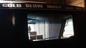 Lastbilen Teijo är kall, långsam, högljudd och ful