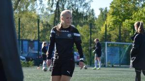 Jutta Rantala, TPS träningar, våren 2017.