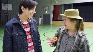 Dramaklubb i Mattliden januari 2016, trollkarlen från oz, plåtmannen och fågelskrämman