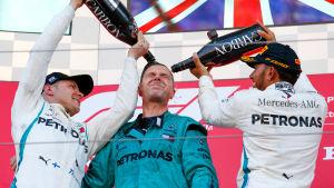 Valtteri Bottas, Lewis Hamilton.