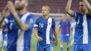 Joel Pohjanpalo gjorde Finlands mål i segern över Grekland.