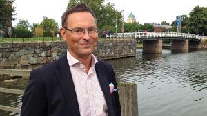 Jukka Rosenberg, direktör för postens paket- och logistiktjänster.