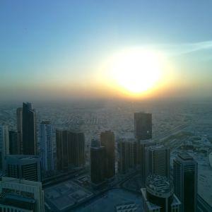 Soluppgång i Qatar.