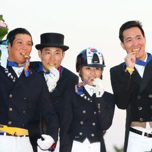 Chung Yoo-ra som misstänks för ekonomiska brott i Sydkorea