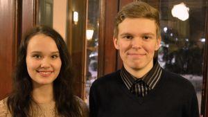 Pipsa Kaikkonen och Roni Holmberg, Borgå ungdomsfullmäktige 2017