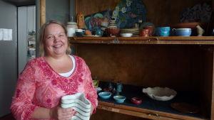 Marika och keramiken på Vimma i Åbo