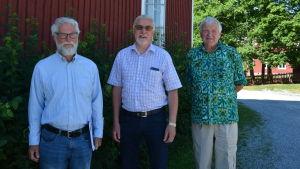 Jakke Hellman, Olof Elenius och Christer Friis.