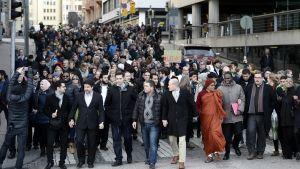 Fredsmarsch i Helsingfors.
