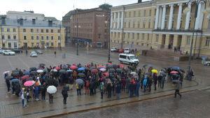 Flera hundra pers vid utmarsch vid HU 20.4.2016