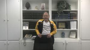 Borgmästaren Gary Michael i stadshuset i Petersburg.