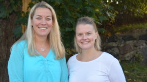Petra Blomqvist, lärare i Ekenäs gymnasium och Lena Holmström, läarare i Hangö gymnasium och högstadium.