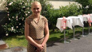 Riksdagsledamot Elina Lepomäki (Saml).