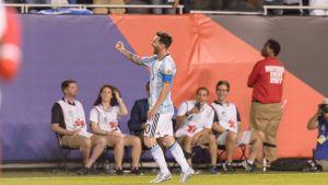 Lionel Messi firar mål