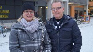Lunchätare i Jakobstad.