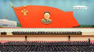 Nordkoreas arbetarparti håller nationell samling 19 juni 2015.