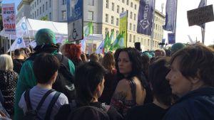 Demonstration i Warszawa till stöd för aborter