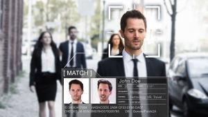AI-system som känner igen en mans ansikte.