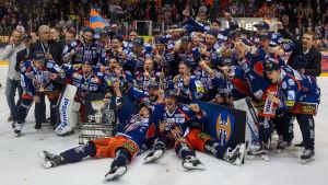 Tappara firar guld 2015-2016.