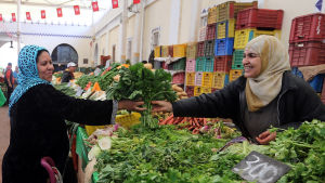 Grönsakshandlare i Tunis.