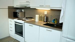 Kök i nyrenoverad lägenhet.