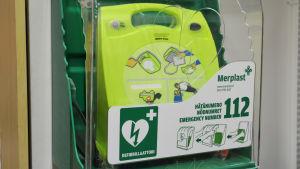 Defibrillator i K-citymarket
