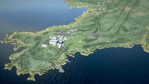 Fennovoimas planerade kärnkraftverk i Pyhäjoki.