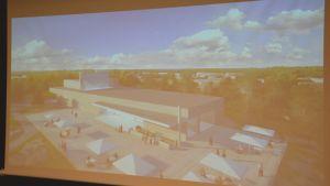 Bild över hur Regatta spa kommer se ut på Fabriksudden i Hangö