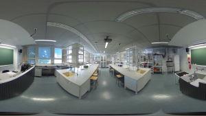 itä-suomen yliopiston fysiikan laboratorio kuvattuna 360-kameralla