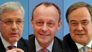 Ansikten på tre manliga tyska politiker.