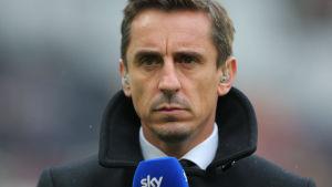 Gary Neville i rollen som expertkommentator för Sky Sports.