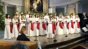 Luciasång i Helsingfors domkyrka.