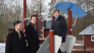 Peter Rehn, Mikael Nylund och Annette Ström
