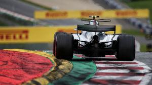 Valtteri Bottas på banan i Österrikes GP.