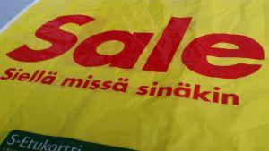 Sale kaupan muovikassi LK