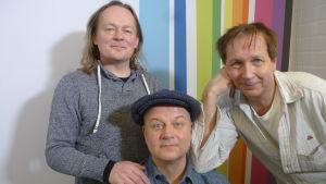 Pepe Johansson, Markus Koskinen ja Pasi Hiihtola Levylautakunnassa