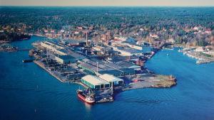 Flygbild av Dalsbruks fabriksområde