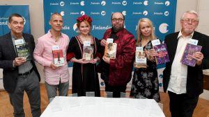 Olli Jalonen, Jari Järvelä, Katja Kettu, J. Pekka Mäkelä, Pauliina Rauhala och Lars Sund.
