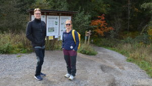 Marko Nieminen & Minja Huoplainen som besökte Sibbo storskog 02.10.20