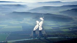 Grohnde kärnkraftverk emmerthal i Niedersachsen i november 2015.