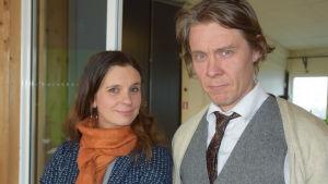 Närbild på Olga Temonen och Tuukka Temonen.
