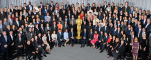 """""""Luokkakuva"""" Oscar-ehdokkaista Oscar-lounaalla ennen vuoden 2019 gaalaa."""