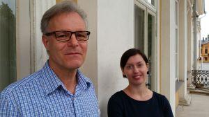 Professor Erik Bonsdorff och FD Marie Nordström