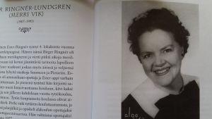 Bild av Ester Ringnér-Lundgren i Sara Kokkonens bok Kapina ja kaipuu