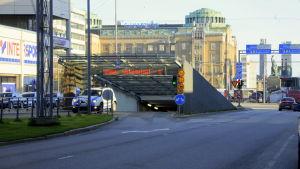 Nedfart till torgparkeringen i Vasa